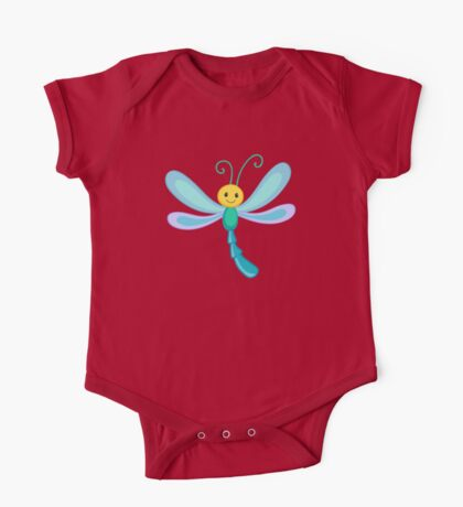 Cute cartoon children dragonfly One Piece - Short Sleeve
