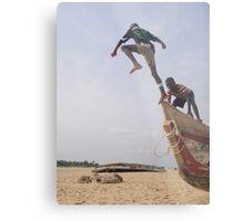 Ghana boys jumping off boat2 Metal Print