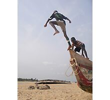 Ghana boys jumping off boat2 Photographic Print