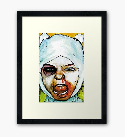 Realistic Finn from Adventure Time Framed Print