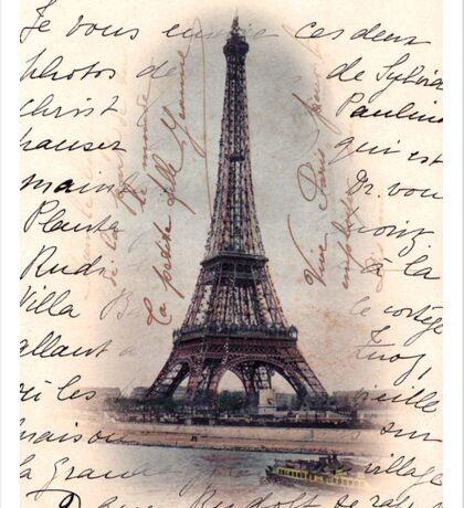Eiffel Tower on French Writing  Sticker