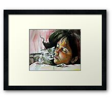 She and monet Framed Print