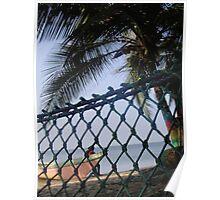 Hammock on Beach Poster