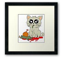 Cannibal Cat Framed Print