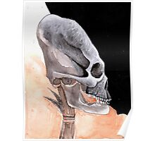 Ancient Elongated Skull Watercolor Poster