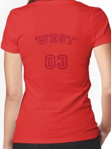 West Up To Bat Women's Fitted V-Neck T-Shirt