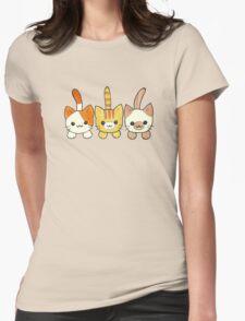 Three Cute Kittens Womens Fitted T-Shirt