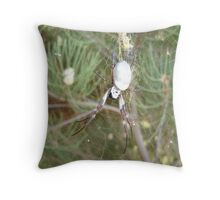 orb weaver 2 Throw Pillow