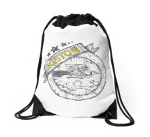 Boston City with fire bird symbol hand draw design Drawstring Bag