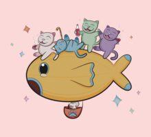 Cats In Flight Kids Tee