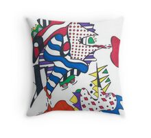 The Frogs Have It Throw Pillow