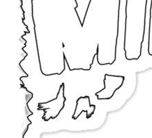 Mimic White Face Paint Image Sticker