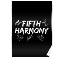 Fifth Harmony With Signatures Poster