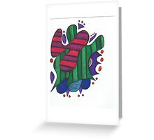 Abstract Collage Greeting Card
