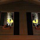 Halloween Window Eyes by Heather Friedman