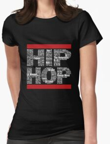 Hip Hop in Black Womens Fitted T-Shirt
