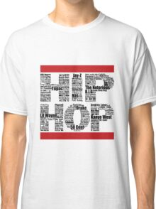 Hip Hop in White Classic T-Shirt