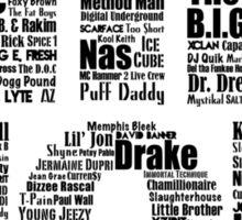 Hip Hop in White Sticker