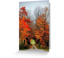 The Lane in Autumn Greeting Card
