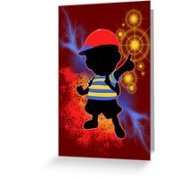 Super Smash Bros. Ness Silhouette Greeting Card