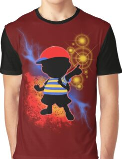 Super Smash Bros. Ness Silhouette Graphic T-Shirt