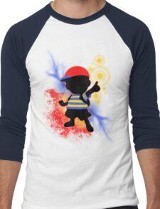 Super Smash Bros. Ness Silhouette Men's Baseball ¾ T-Shirt