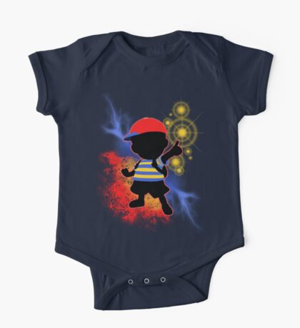 Super Smash Bros. Ness Silhouette One Piece - Short Sleeve