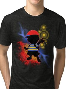 Super Smash Bros. Ness Silhouette Tri-blend T-Shirt