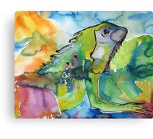 Iguana by the pond - Florida 2010 Canvas Print
