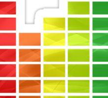Rainbow Music Visualizer Sticker