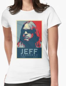 Jeff Hanneman R.I.P. Poster Womens Fitted T-Shirt
