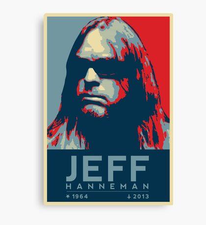Jeff Hanneman R.I.P. Poster Canvas Print
