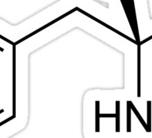 breaking bad Methamphetamine molecule A Sticker
