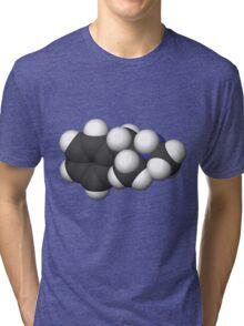 breaking bad Methamphetamine molecule C Tri-blend T-Shirt