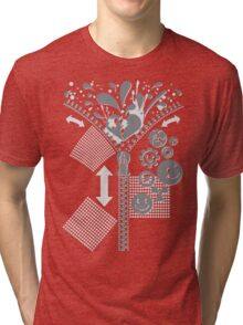 Zipper_Heart Tri-blend T-Shirt