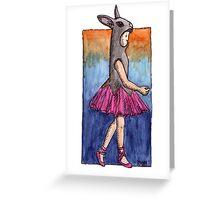KMAY Hoodkid Bunny Ballerina Greeting Card