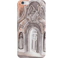 Open Grave Watercolor Painting iPhone Case/Skin
