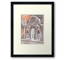 Open Grave Watercolor Painting Framed Print