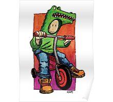 KMAY Hoodkid Croc on Bike Poster