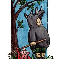 KMAY Hoodkid Rhino Runaway by Katherine May