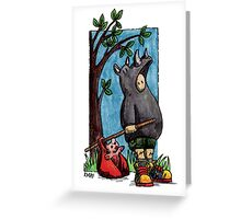 KMAY Hoodkid Rhino Runaway Greeting Card