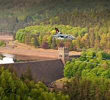 Tornado GR4s 617 Squadron Over The Howden Dam by Colin J Williams Photography
