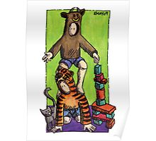KMAY Hoodkid Bull Balancing on Tiger Poster