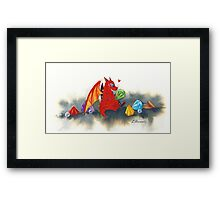 The dragon's collection Framed Print