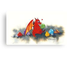 The dragon's collection Canvas Print
