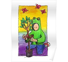KMAY Hoodkid Frog with Tree Gift Poster