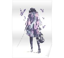 Entourage Violin and Butterflies Poster