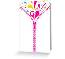 Zipper_Heart Greeting Card