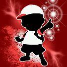 Super Smash Bros. White Ness Silhouette by jewlecho