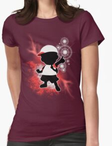 Super Smash Bros. White Ness Silhouette Womens Fitted T-Shirt